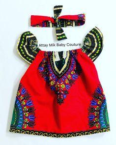 Red Dashiki Bardot Dress-Off Shoulder