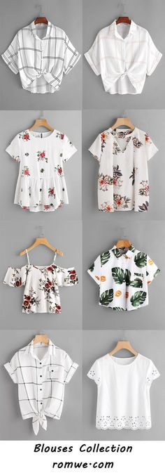 blouses collection 2017 - romwe.com Diy Fashion, Teen Fashion, Korean Fashion, Fashion Outfits, Womens Fashion, Indian Fashion Dresses, Girls Fashion Clothes, Girl Outfits, Cute Casual Outfits