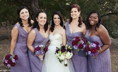 These lavender bridesmaid dresses are just too perfect! // Lindsey Thorne Photography
