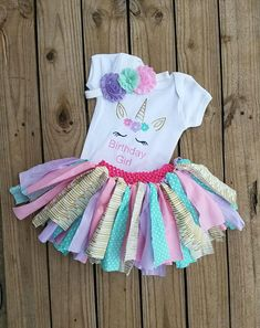 629cbecb62f85 Unicorns Girls Birthday Outfit, Horses Smash Cake Photo Prop, 1 2 3 4 Year  Old Toddler Party, Material Tutu, Pink Purple Mint Gold Glittered