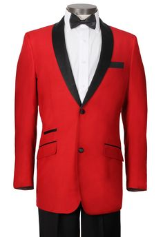 Red and black tux coat...