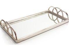 John Richard  Large Silver Mirrored Decorative Tray
