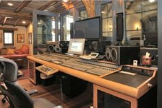 Recording Studio Furniture Gallery: Custom Mixing Desks by Sound Construction and Supply Inc. Recording Studio Furniture, Music Recording Studio, Recording Studio Design, Home Studio Musik, Music Studio Room, Sound Studio, Studio Layout, Studio Setup, Studio Gear