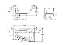 Banheira acrílica angular assimétrica (Direita) | Banheiras em acrílico | Sem hidromassagem | Banheiras angulares | Banheiras | Produtos | Roca