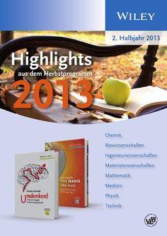 Halbjahresvorschau Naturwissenschaften II/2013