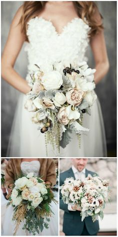 simple winter wedding bouquets