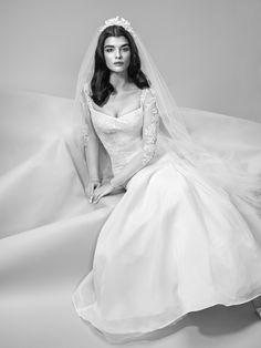 Truly Zac Posen Long Illusion Sleeve Wedding Dress at David's Bridal
