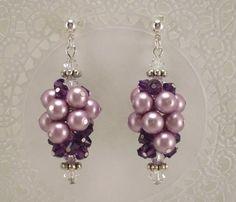 Pearl Grape Cluster Earrings