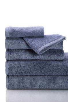 Luxury MicroCotton 6 Piece Plush 600 Gram Weight Towels Set  - Steel by Non Specific on @HauteLook