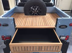 //Tophat restored Defender 90 with bikini top and teak wooden rear deck
