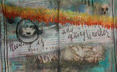 { NEEDING } : An Altered Book spread by paper artist Becca Imbur of Bimbur Books