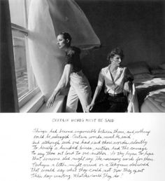 Duane Michals - Certain Words Must Be Said, 1976