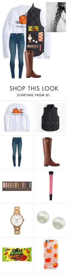 """""""Happy Halloween """" by a-devo ❤ liked on Polyvore featuring J.Crew, J Brand, Tory Burch, Urban Decay, Victoria's Secret, Kate Spade, Majorica and Casetify"""