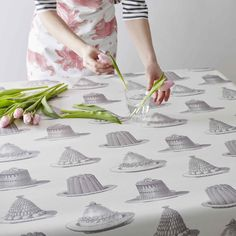 Get set for Easter with our new oil cloth fabrics in elegant grey. Take your table from kitchen prep and creative craft to a beautifully decorated Easter table fit for a feast - these wipe-clean fabrics are practical as well as beautiful for your home.