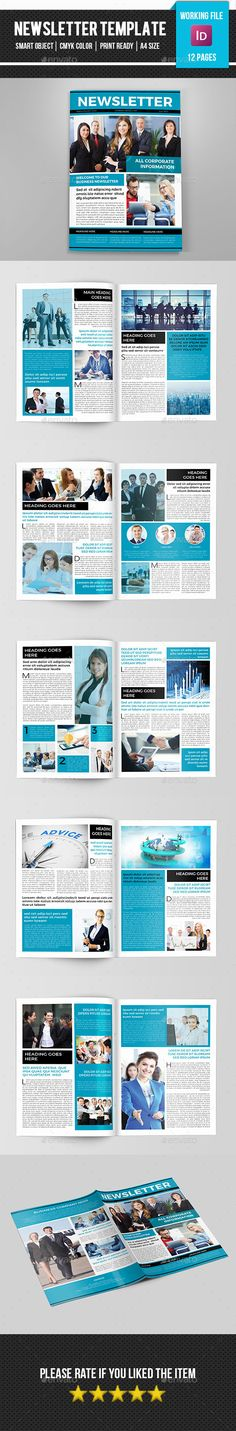 Pages Newsletter Template  Newsletter Templates Template And