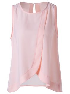 Blouses&Shirts | Sweet Slimming Scoop Neck Tulip Blouse For Women #summer #fashion #blouse