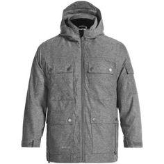 RPZN Alpha Melange Twill PrimaLoft® ECO Jacket - Waterproof, Insulated (For Big Kids) in Black - Closeouts