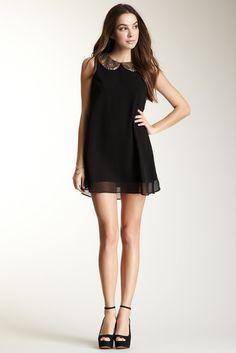 Jarlo, Trixie Sequin Sheath Collar Dress