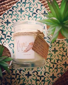 Lemongrass soy wax candle. 320g jar. Hand poured, Adelaide SA  CHECK OUT HEMELBYJESSIJOOP  on etsy to buy. Soy Wax Candles, Candle Wax, Adelaide Sa, Lemon Grass, Jar, Tableware, Check, Etsy, Dinnerware