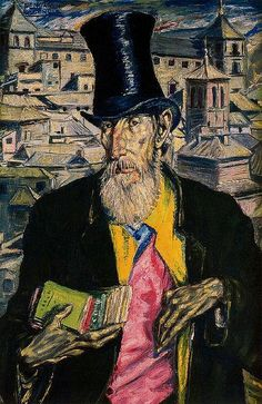 Palencia, Benjamin (1894-1980) - 1930-36 Bookseller (Private Collection) | Oil on canvas;    95 x 63.5 cm.  Spanish painter. based in madrid from 1909, he was self-taught and began by copying pictures by diego velázquez and el greco in the prado. he received support from the poet juan ramón jiménez and established links with such young poets and artists as federico garcía lorca, rafael alberti, salvador dalí and luis buñuel. in 1925, when he participated in the artista