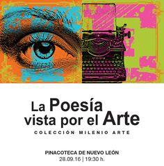 #INAUGURACIONES Este miércoles la #PinacotecaNL te invita a la muestra LA POESÍA VISTA POR EL ARTE una muestra de 34 pinturas inspiradas en poemas de Sor Juana Inés de la Cruz José Gorostiza Xavier Villaurrutia entre otros y los cuales establen un diálogo entre la poesía mexicana y la pintura contemporánea de nuestro país.  19:30h | Miércoles 28 | Entrada libre #EstoEsCONARTE