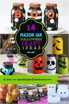 Mason Jar Crafts for Halloween
