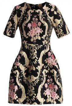 Rococo Roses Intarsia Dress...gorgeous