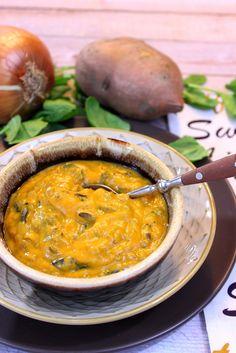 Roasted Sweet Potato with Wild Rice Chowder