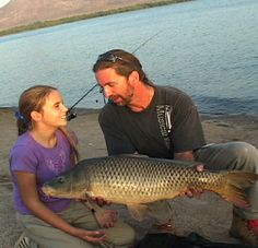 Fishing with my kids has always been and always will be a special time for me; here Stephanie and I caught a 20 pound Common Carp in an East Los Angeles park lake. The smile on her face says it all :)  #CyprinusCarpio #CommonCarp #CarpFishingInAmerica #KidsFishing  #HowToCatchCarp #AmericanCarpSociety #WayneBoon