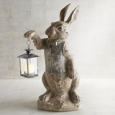 Shop for Candle Lanterns from Pier 1 Imports. Add Unique Lighting to Your Home with Hanging Lanterns for the Indoors and Outdoors. Led Tea Lights, Tea Light Candles, Hanging Lanterns, Candle Lanterns, Rabbit Sculpture, Rabbit Art, Rabbit Garden, Bunny Art, Tealight Candle Holders