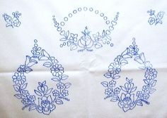 drukkolt kalocsai minta printed kalocsa embroidery pattern on ...