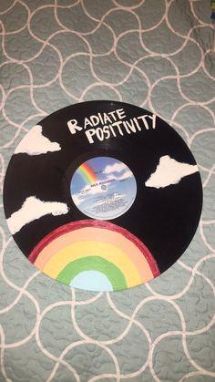 Painted Vinyl Record on Mercari Painted Vinyl Record Cd Wall Art, Record Wall Art, Cd Art, Easy Canvas Art, Small Canvas Art, Diy Canvas, Cd Crafts, Vinyl Records, Vinyl Record Crafts