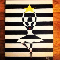 Shining Free by BM. Acrylic on canvas, 2012.
