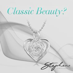 This heart pendant with floating stone will turn heads. It is elegant enough to wear at a party and classic enough to wear everyday. Come in store or shop these styles online at http://www.stephensjewellers.com.au/brand/stephens?category=&stone_type=&metal_type=&search_query=&gender=&promotion= #Stephensjewellers #Jewellery #Gold #Rings #Aquamarine http://www.stephensjewellers.com.au/