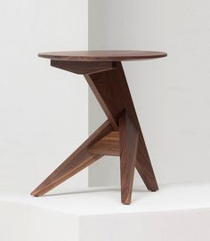Konstantin Grcic; Waxed Walnut 'Medici' Side Table for Mattiazzi #contemporarydesign side tables #contemporarysidetable living room design #contemporarylivingroom . See more at www.coffeeandsidetables.com