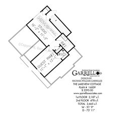 Lakeview Cottage House Plan 16009, 2nd Floor Plan, Craftsman Style House Plans, Rustic House Plans