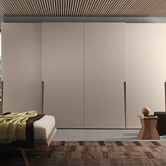 Contemporary style sectional lacquered wardrobe with sliding doors Tecnopolis anta scorrevole JIVE by Presotto