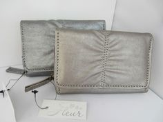Rouched Purse Wallet Organiser Metallic Gold or Silver