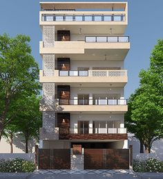 Residential Home Construction on Plot in NCR - Prithu Homes House Outer Design, House Outside Design, Design Your Dream House, House Front Design, Small House Design, Building Design Plan, Architecture Building Design, Facade Design, House Architecture