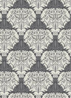 Anthology Fabric - Rendezvous Collection-damask In Grey