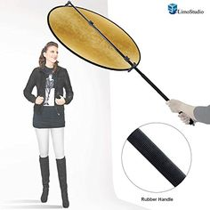 """LimoStudio 43"""" Lighting Reflector Diffuser with Rubber Hand Grip Extendable Reflector Holder Boom Arm Support, AGG1786 LimoStudio http://smile.amazon.com/dp/B01A60SQXG/ref=cm_sw_r_pi_dp_P1l6wb07ZMYBF"""