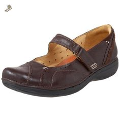 Clarks Unstructured Women's Un.Parody Mary Jane,Brown,6 W US - Clarks flats for women (*Amazon Partner-Link)