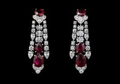"""Cartier unveils its new high jewelry collection """"Dépaysement"""" (""""Change of scenery"""") this week at the Biennale des Antiquaires in Paris, as previously announced earlier in August. Cartier Earrings, Cartier Jewelry, Ruby Jewelry, Ruby Earrings, Jewelry For Her, I Love Jewelry, Gems Jewelry, High Jewelry, Luxury Jewelry"""