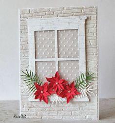 window - christmas card