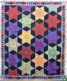 Paisley Stars quilt by Summer Louise Truswell.  Kaffe Fassett design.
