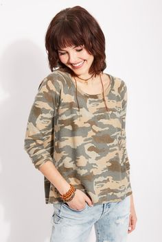 Camo Flyaway Pullover Chaser, Skinny Classique Blanknyc, Suede Wrapped Horn Choker Thirty-Nine 42