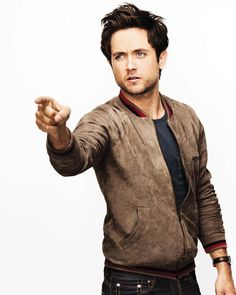 What to Wear Today: Bust out your suede bomber and bring on the cooler weather. (Justin Chatwin photographed by @wattsupphoto) #WTWT #OOTD by gq