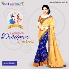 Navratri Dhoom: This Festive Season Try Exclusive Collection of Designer Sarees, Exclusive available at https://www.shopperholic.in/ #navratri #clothing #latest_trends #womens #onineshopping #shopping #designer_sarees #fashion #sarees #discount Shop Now!