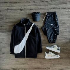 "John J. Lee on Instagram: ""Just do it ☑️ #outfitgrid ◾️#nike fleece ◾️#nike track pants ◾️#nike x #acoldwall cap ◾️#nike #af1 sneakers"""