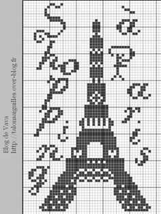 Eiffel Tower -  free patterns from cross-stitching site